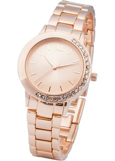 Часы на металлическом браслете (розово-золотистый) Bonprix