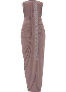 Платье с эффектом запаха (светло-коричневый) Bonprix