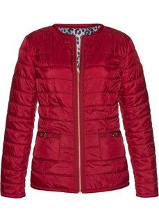 Двухсторонняя куртка (темно-красный/леопардовый с принтом) Bonprix