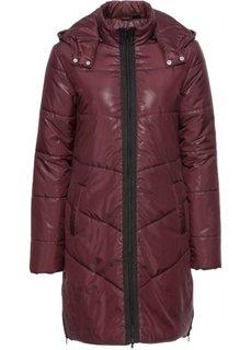Пальто стеганое (бордовый/черный) Bonprix