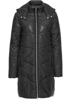 Пальто стеганое (черный) Bonprix