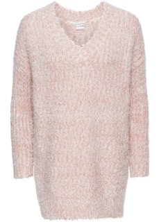 Вязаный пуловер (винтажно-розовый/белый) Bonprix