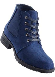 Ботильоны на шнуровке (синий) Bonprix