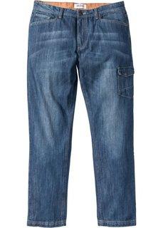 Пярмые джинсы с боковыми карманами Regular Fit, cредний рост (N) (синий) Bonprix