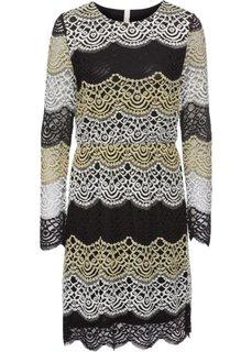Платье с кружевной отделкой (золотистый/черный) Bonprix