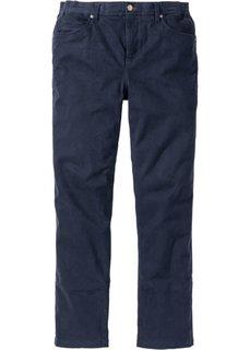 Прямые брюки Regular Fit с удобным поясом, cредний рост (N) (темно-синий) Bonprix