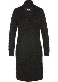 Вязаное пальто (антрацитовый меланж) Bonprix
