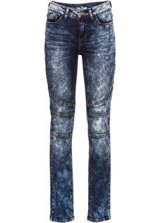 Узкие стрейчевые джинсы с декоративными швами, cредний рост (N) (темно-синий) Bonprix