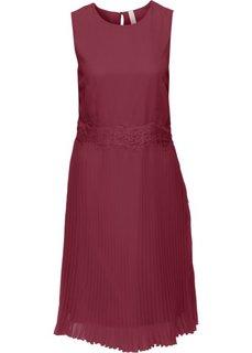Платье с плиссированными складками (темно-красный) Bonprix