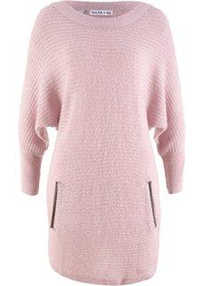 Структурный пуловер дизайна Maite Kelly с рукавом 3/4 (розовый) Bonprix