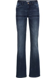 Расклешенные стрейчевые джинсы, cредний рост (N) (темно-синий) Bonprix