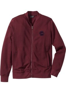 Трикотажная куртка Slim Fit (кленово-красный) Bonprix