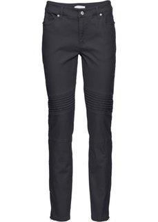 Стрейчевые брюки-дудочки (темно-серый) Bonprix