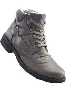 Ботинки на шнуровке (серый) Bonprix
