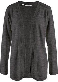 Флисовая куртка (антрацитовый меланж) Bonprix