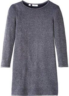 Платье с люрексом (черный/серебристый) Bonprix