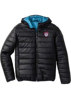 Зимняя куртка из искусственной кожи (черный) Bonprix