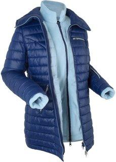 Стеганая куртка 3 в 1 с флисовой курткой (полуночная синь) Bonprix