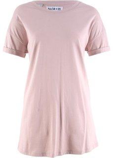 Удлиненная футболка с коротким рукавом − дизайн от Maite Kelly (розовый матовый) Bonprix
