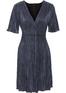 Плиссированное платье (серебристо-серый) Bonprix