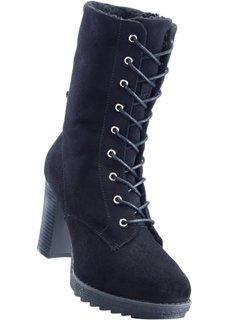 Сапоги на шнуровке (черный) Bonprix