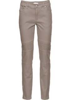 Стрейчевые брюки-дудочки (серо-коричневый) Bonprix