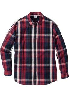 Клетчатая рубашка Regular Fit (темно-красный в клетку) Bonprix