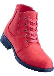 Ботильоны на шнуровке (красный) Bonprix