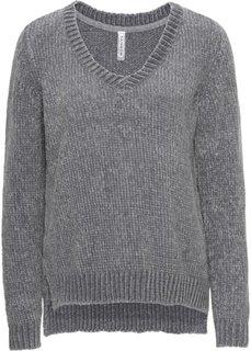 Вязаный пуловер (серый) Bonprix