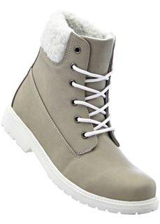 Ботинки на шнуровке (светло-серый/кремовый) Bonprix