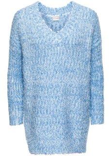 Вязаный пуловер (нежно-голубой/белый) Bonprix