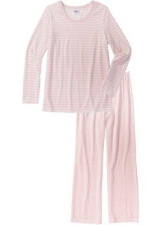 Пижама (кремовый/нежно-розовый в полоску) Bonprix