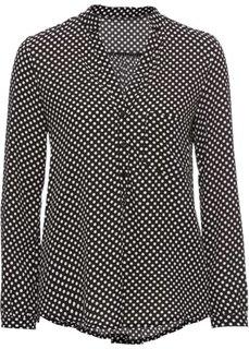 Блузка в горошек (черный/кремовый) Bonprix