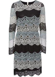 Платье с кружевной отделкой (светло-серый/черный/белый с рисунком) Bonprix