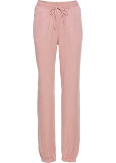 Брюки с цветочной вышивкой (винтажно-розовый) Bonprix