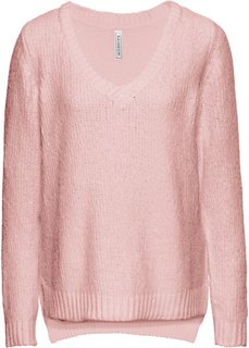 Вязаный пуловер (розовый) Bonprix