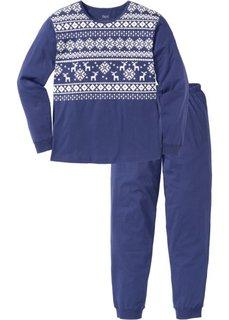 Пижама (полуночная синь/белый с рисунком) Bonprix
