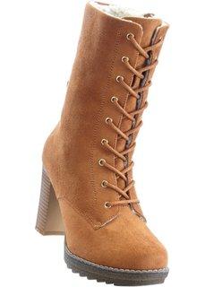 Сапоги на шнуровке (коньячно-коричневый) Bonprix