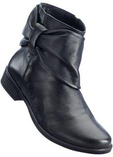 Кожаные полусапожки (черный) Bonprix