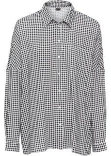 Блузка с принтом (черный/белый в клетку) Bonprix