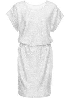 Трикотажное платье с металлическим отливом (серебристый) Bonprix
