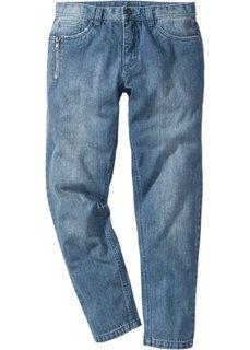 Джинсы Regular Fit Tapered, длина (в дюймах) 34 (голубой выбеленный «потертый») Bonprix