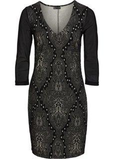 Платье из жаккарда (черный/золотистый) Bonprix