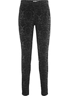 Из коллекции Maite Kelly: брюки из трикотажа Punto di Roma с принтом (черный с рисунком) Bonprix
