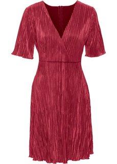 Плиссированное платье (бордовый) Bonprix
