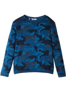 Пуловер (синий камуфляжный) Bonprix