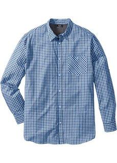 Клетчатая рубашка Regular Fit с длинным рукавом (темно-синий в клетку) Bonprix