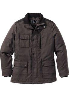 Куртка в дизайне под шерстяную (антрацитовый меланж) Bonprix