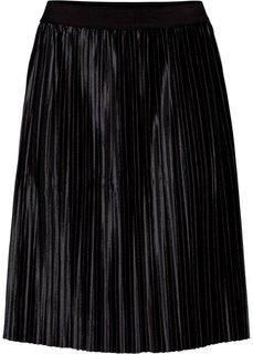 Бархатная юбка (черный) Bonprix