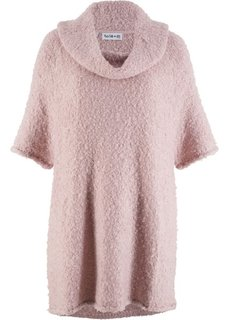 Пуловер покроя оверсайз, рукав 3/4, дизайн Maite Kelly (розовый матовый) Bonprix